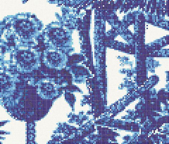 Jardin Bleu C by Bisazza   Glass mosaics