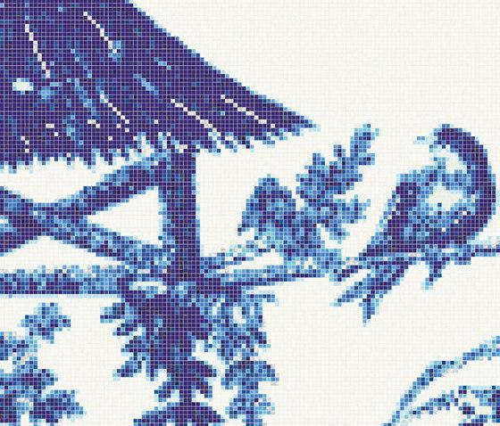 Jardin Bleu D von Bisazza | Glas Mosaike