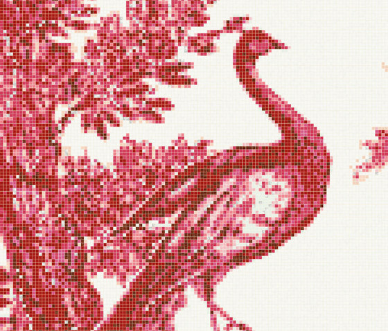 Jardin Rouge A by Bisazza | Glass mosaics
