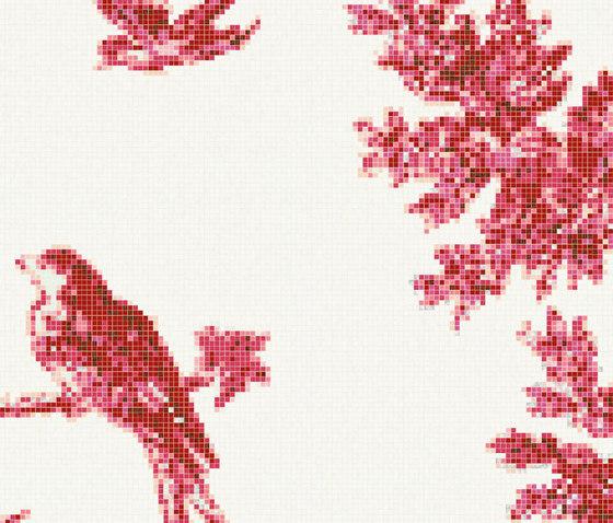 Jardin Rouge E de Bisazza | Mosaicos de vidrio
