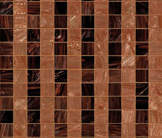 Rayures Marrons de Bisazza | Mosaïques