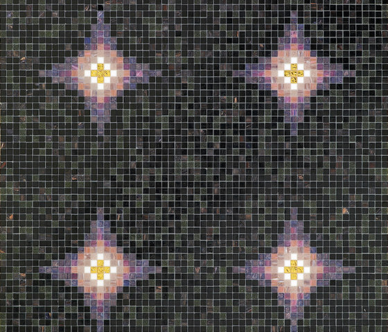 Vesper Minor Black by Bisazza | Glass mosaics