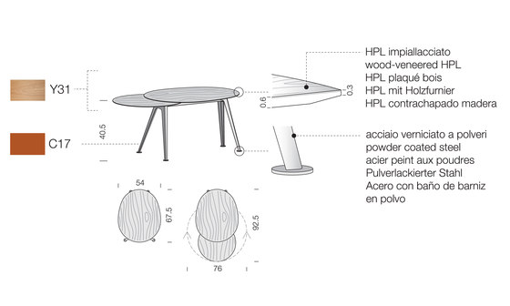 Mr.Hyde MH01 by Extendo | Lounge tables