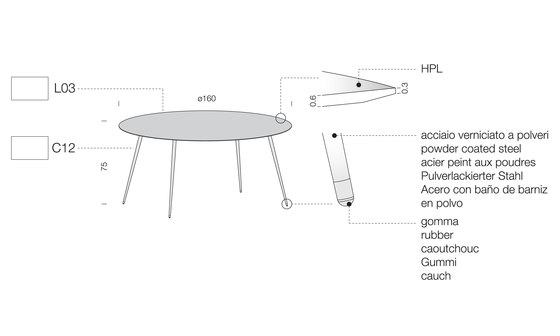 Spillo SP03 by Extendo | Restaurant tables