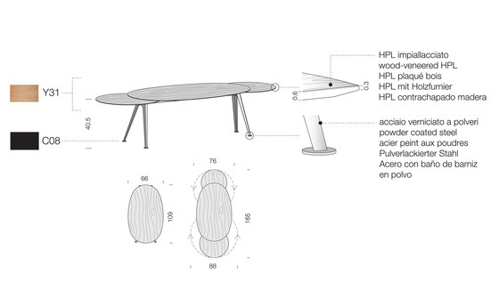 Mr.Hyde MH09 by Extendo | Lounge tables