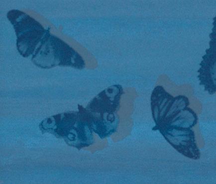 Cielo Farfalle Indaco Inserto Mix 2 de Fap Ceramiche | Baldosas