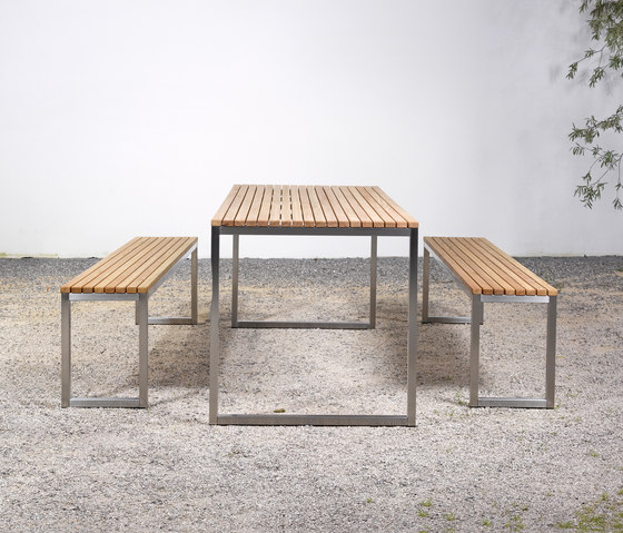 Table and Bench at_06 by Silvio Rohrmoser | Garden benches