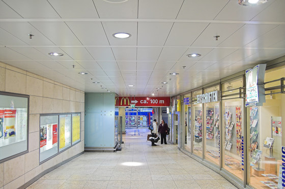 Post Cap ceilings by Lindner Group | Ceiling systems