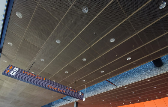 Expanded Metal ceilings by Lindner Group | Ceiling systems