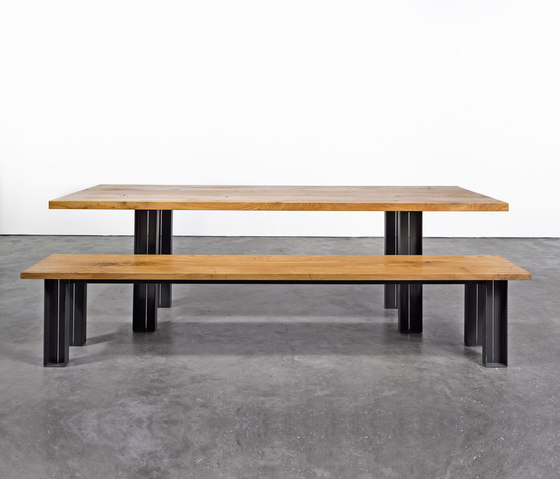 Table and Bench at_12 by Silvio Rohrmoser | Upholstered benches