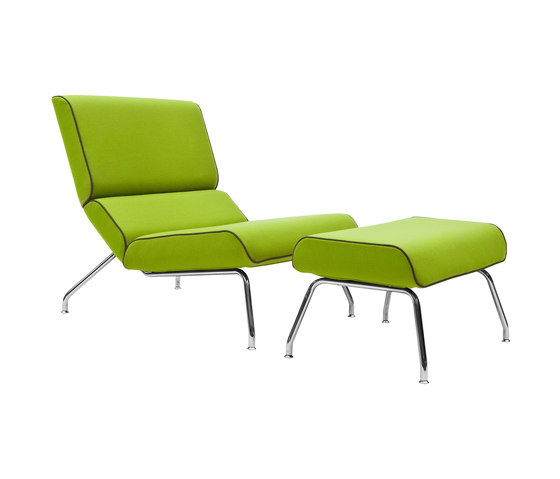 Milo lounge chair with footstool by Softline A/S | Lounge chairs