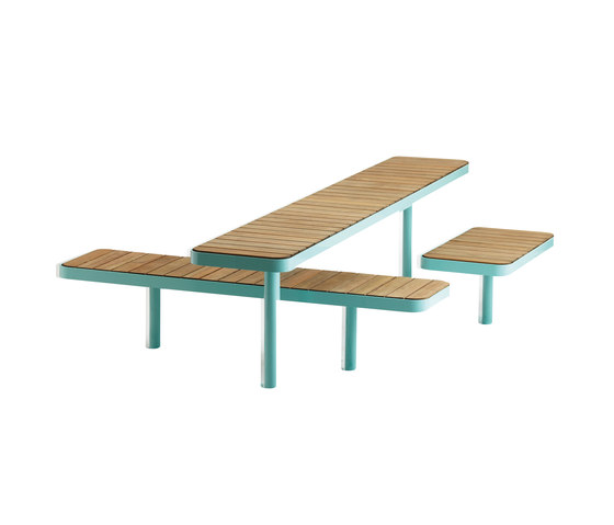 Forum bench & table by Vestre | Benches with tables
