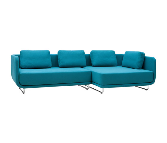 Setup sofa | chaise long by Softline A/S | Modular seating systems