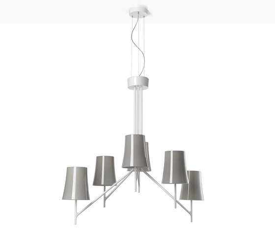 Birdie 6 suspension grey by Foscarini | General lighting