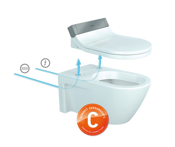 Starck C Toilet wall mounted by DURAVIT | Water-spray toilets