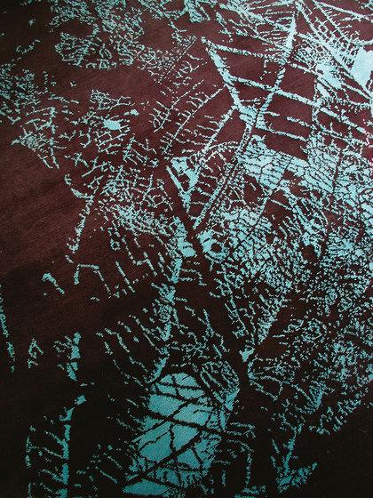 Flora Dark Brown-Cyan di 2Form Design | Tappeti / Tappeti d'autore