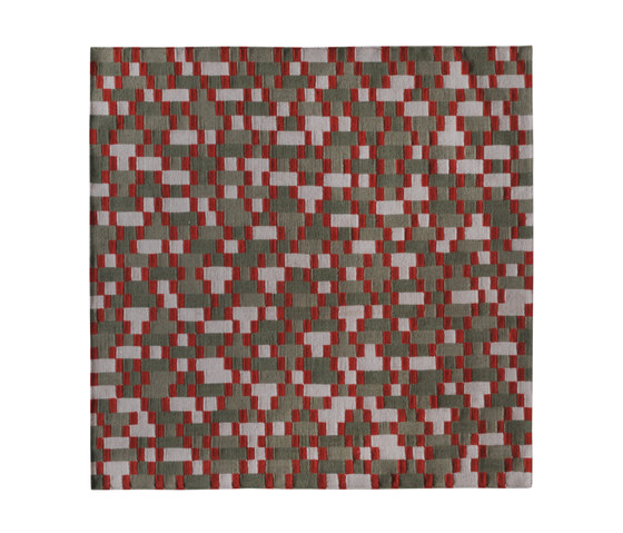 Tempo Cinque Green-red by I + I | Rugs / Designer rugs
