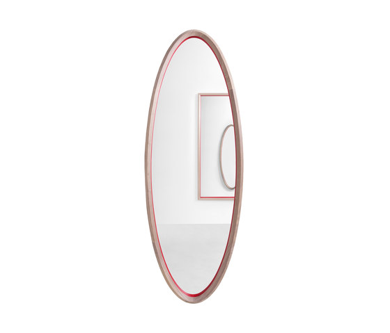 Grado 45° oval mirror by Molteni & C | Mirrors