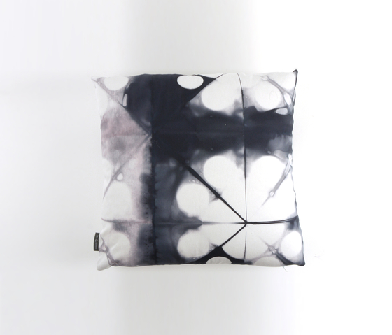 Tie & Dye Circles Slate by Chiccham | Cushions