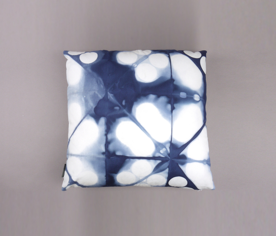 Tie & Dye Circles Marine by Chiccham | Cushions