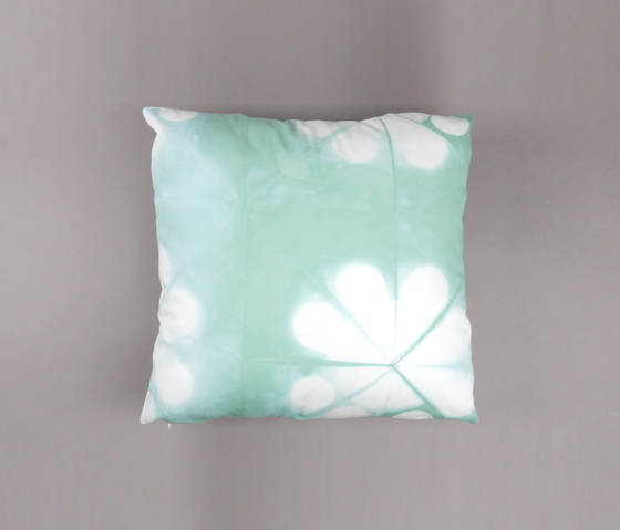 Tie & Dye Circles Sea Glass by Chiccham | Cushions