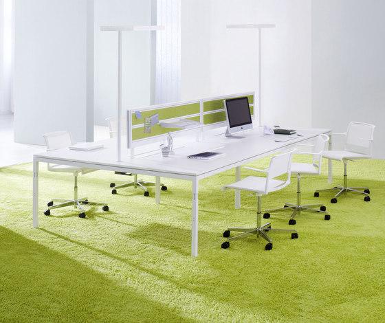 Série Q3 Table de bureaux collectives de ophelis | Systèmes de tables de bureau