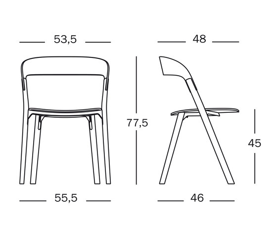 Pila Chair by Magis | Visitors chairs / Side chairs