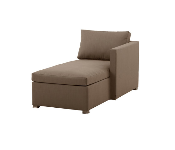 Shape Chaise Lounge left by Cane-line | Sun loungers