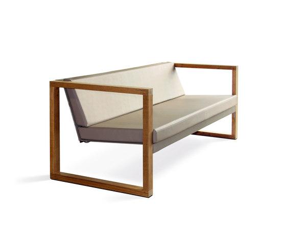 Cima Lounge Banca Teak de FueraDentro | Sofás de jardín