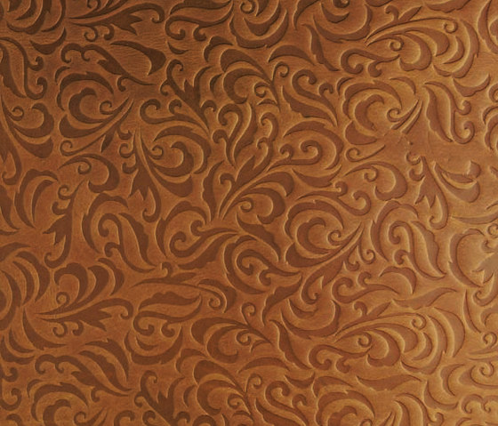 Tactile Amber lily by Nextep Leathers | Natural leather wall tiles