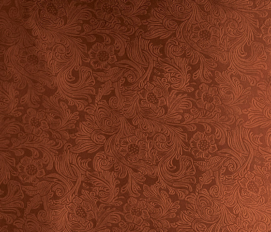 Tactile Mahogany damask by Nextep Leathers | Leather tiles