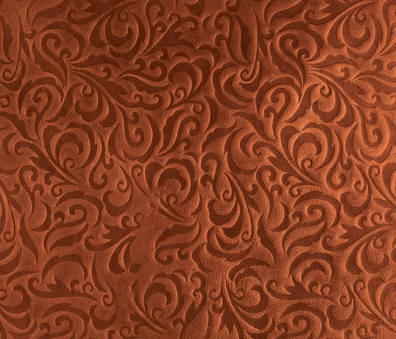 Tactile Mahogany lily by Nextep Leathers | Natural leather wall tiles