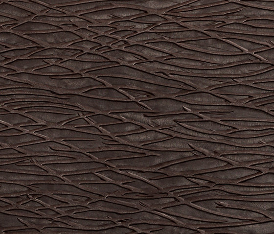 Tactile Choco Arcadia by Nextep Leathers | Leather tiles