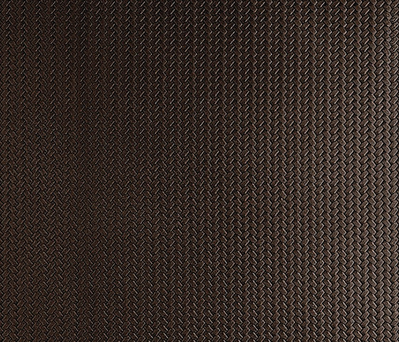 Tactile Choco braid by Nextep Leathers | Natural leather wall tiles