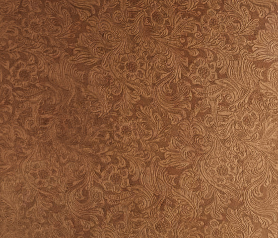 Tactile Ivory damask de Nextep Leathers | Azulejos de pared de cuero natural