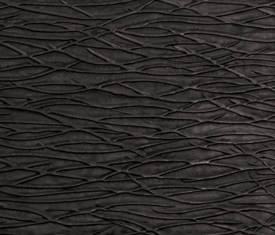 Tactile Black arcadia by Nextep Leathers | Leather tiles