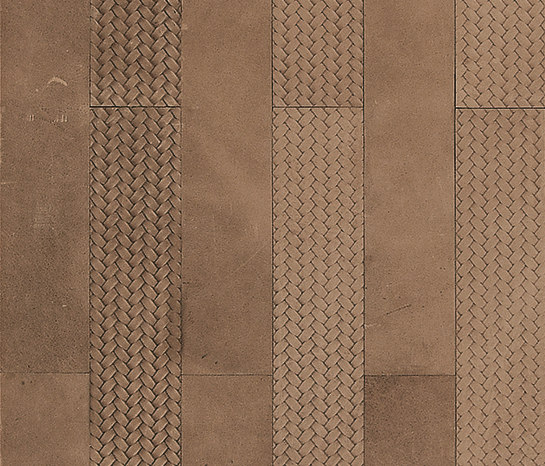 Kaleidos Boiserie Sand by Nextep Leathers | Natural leather wall tiles