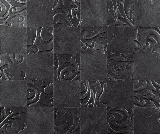 Kaleidos Mosaics slate by Nextep Leathers | Leather tiles