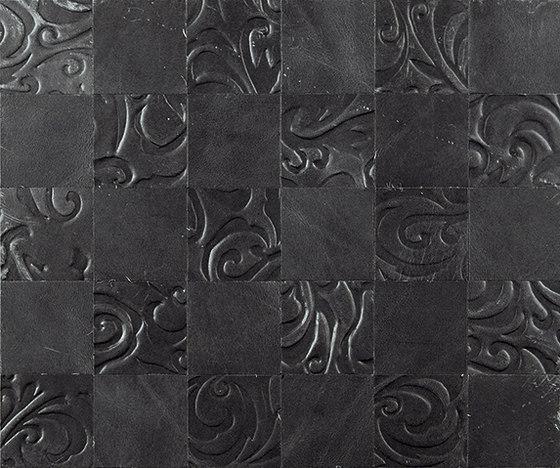 Kaleidos Mosaics slate von Nextep Leathers | Leder Fliesen