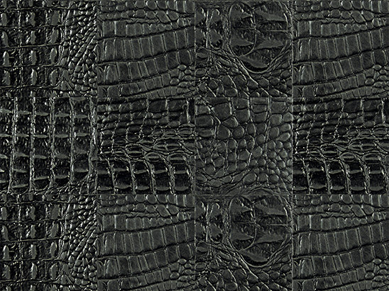 Kaleidos Mosaics black-cayman-tozzetti by Nextep Leathers   Natural leather wall tiles