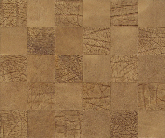 Kaleidos Mosaics ivory-elefant-chips by Nextep Leathers | Natural leather wall tiles