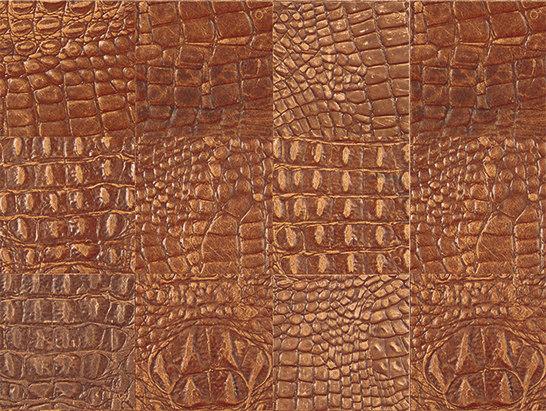 Kaleidos Tozzetti Mogano-Caimano von Nextep Leathers | Leder Fliesen