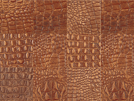 Kaleidos Mosaics mahogany-cayman-tozzetti de Nextep Leathers   Natural leather wall tiles
