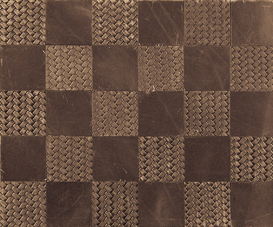 Kaleidos Mosaics moresque-braid-chips by Nextep Leathers | Leather tiles
