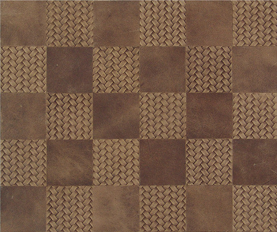Kaleidos Mosaics sand-braid-chips by Nextep Leathers | Leather tiles