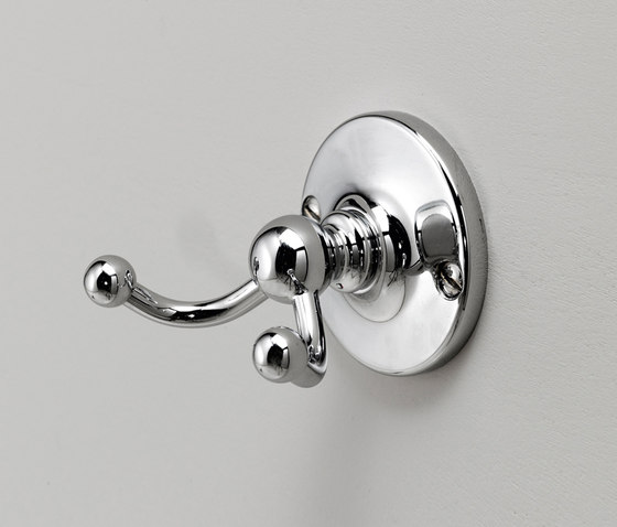 Cavendish Double robe hook by Devon&Devon | Towel hooks