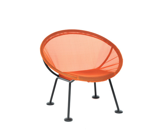 Take Off | lounge chair orange von Skitsch by Hub Design | Gartensessel