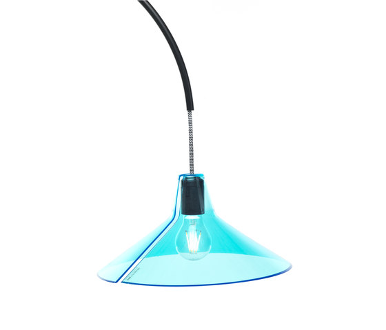 Jupe | conic diffuser blue by Skitsch by Hub Design | General lighting