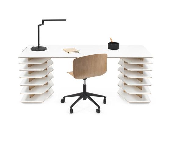 Strates Desk di OBJEKTEN | Scrivanie individuali