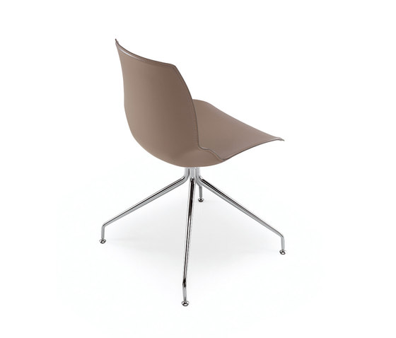 Kaleidos Cuoio by Caimi Brevetti | Visitors chairs / Side chairs